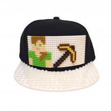 Кепка Майнкрафт Алекс с киркой (совместимая с Лего)