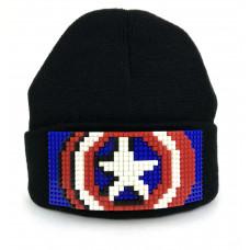 Шапка Капитан Америка (совместимая с Лего)