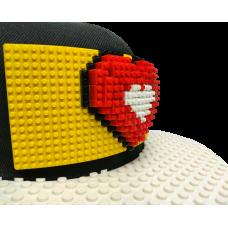 Кепка сердце 3D (совместимая с Лего)