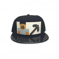 Кепка Майнкрафт Стив серый (совместимая с Лего)