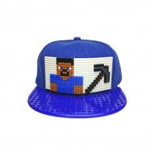 Кепка Майнкрафт Стив с киркой (совместимая с Лего)